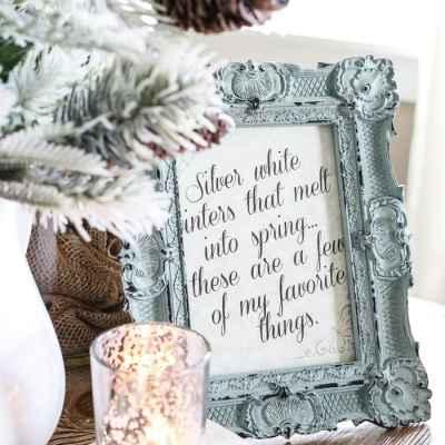 Silver White Winter Printable