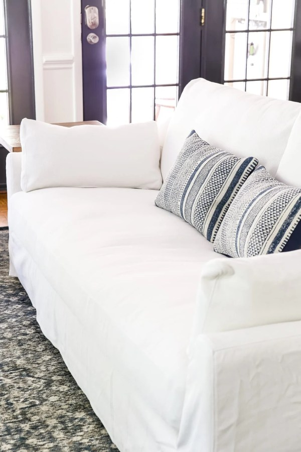 New IKEA Sofa and Chairs and How to Keep Them Clean | blesserhouse.com - A non-biased review of the new IKEA Farlov and Stocksund sofa lines- how comfortable they are, if they're worth the price, and how to keep them clean.