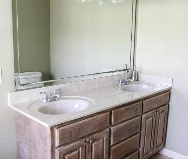 Budget Master Bathroom Refresh Reveal Before