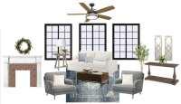 Modern Colonial Living Room Design Plan - Bless'er House