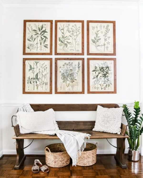 Tried and true ways to decorate and refresh your home completely for free (and maybe even make a little money in the process). #decorating #homedecor #budgetdecor Free printable botanical gallery wall art