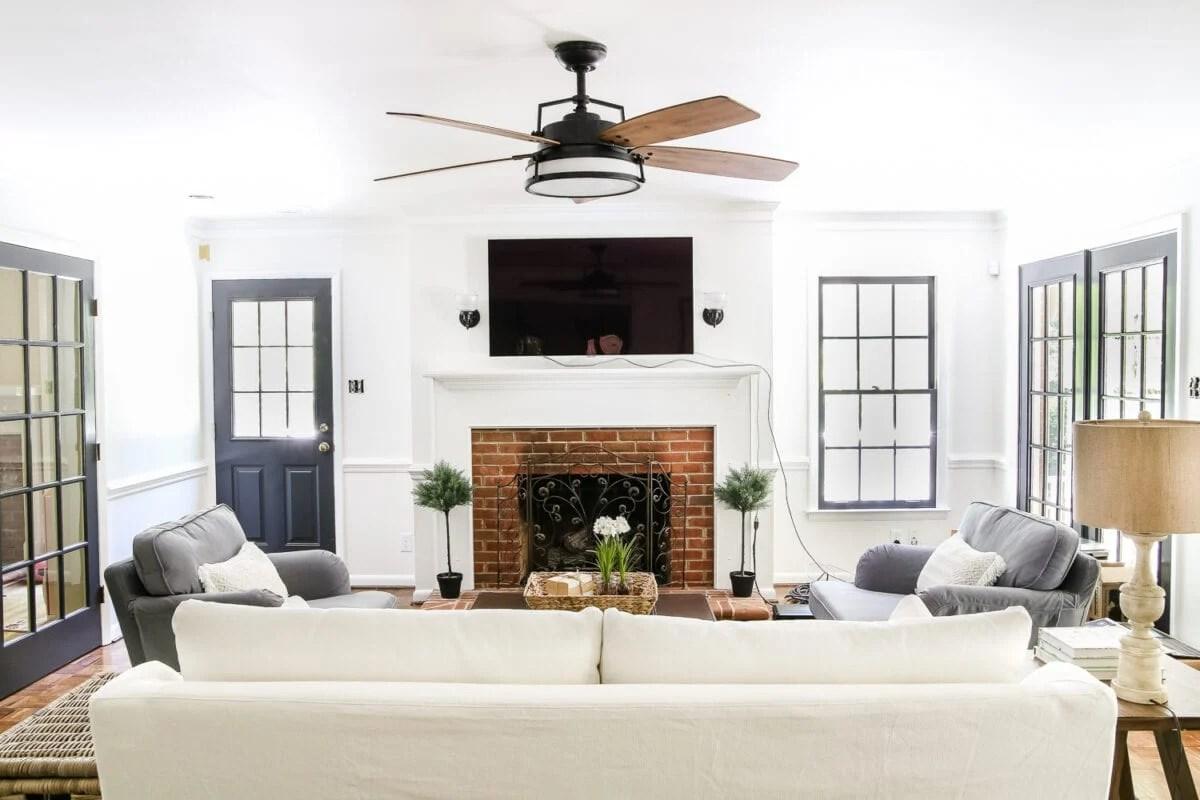 Living Room Update Ceiling Fan Swap  Blesser House
