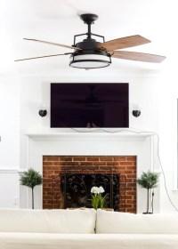 Living Room Update: Ceiling Fan Swap - Bless'er House