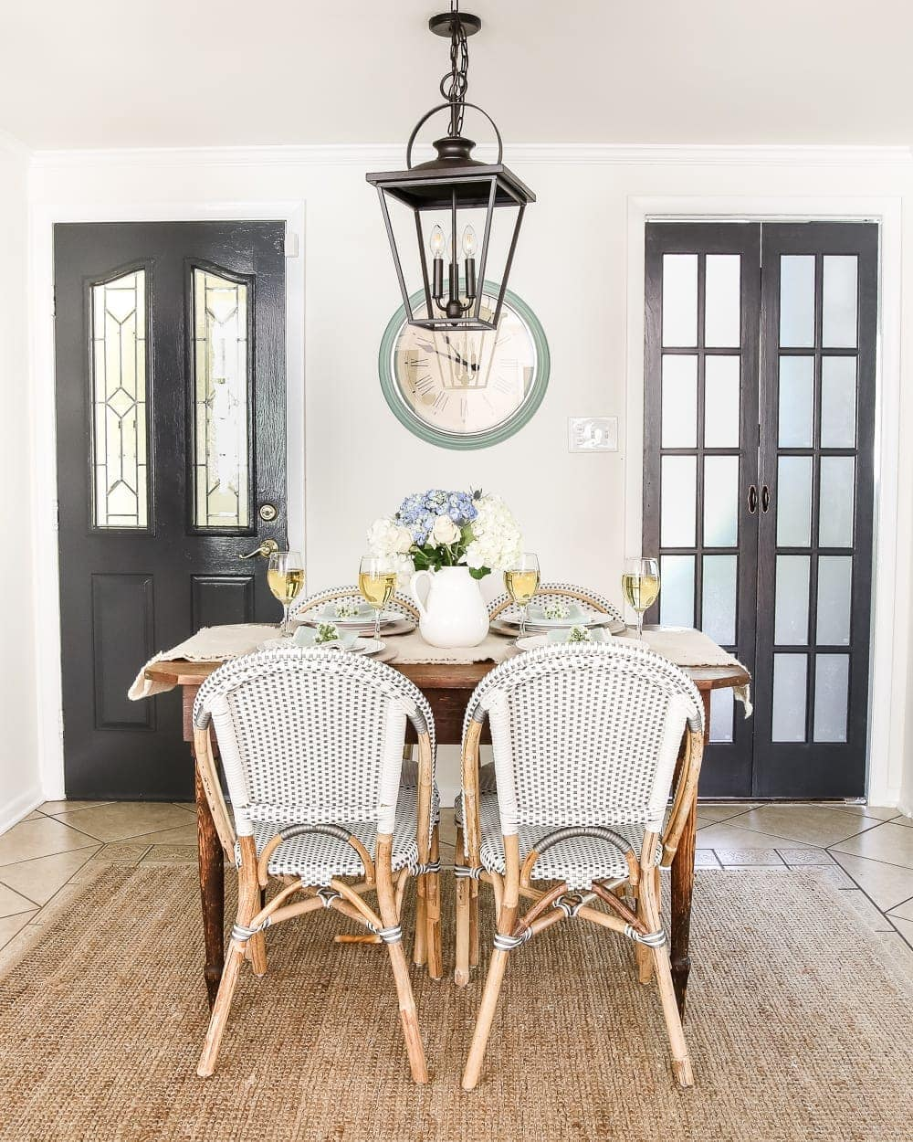 Laundry Room Updates: French Bifold Door   blesserhouse.com - A rickity laundry room bifold door gets a beautiful and functional update with a French bifold door with frosted glass for hiding messes in a stylish way.