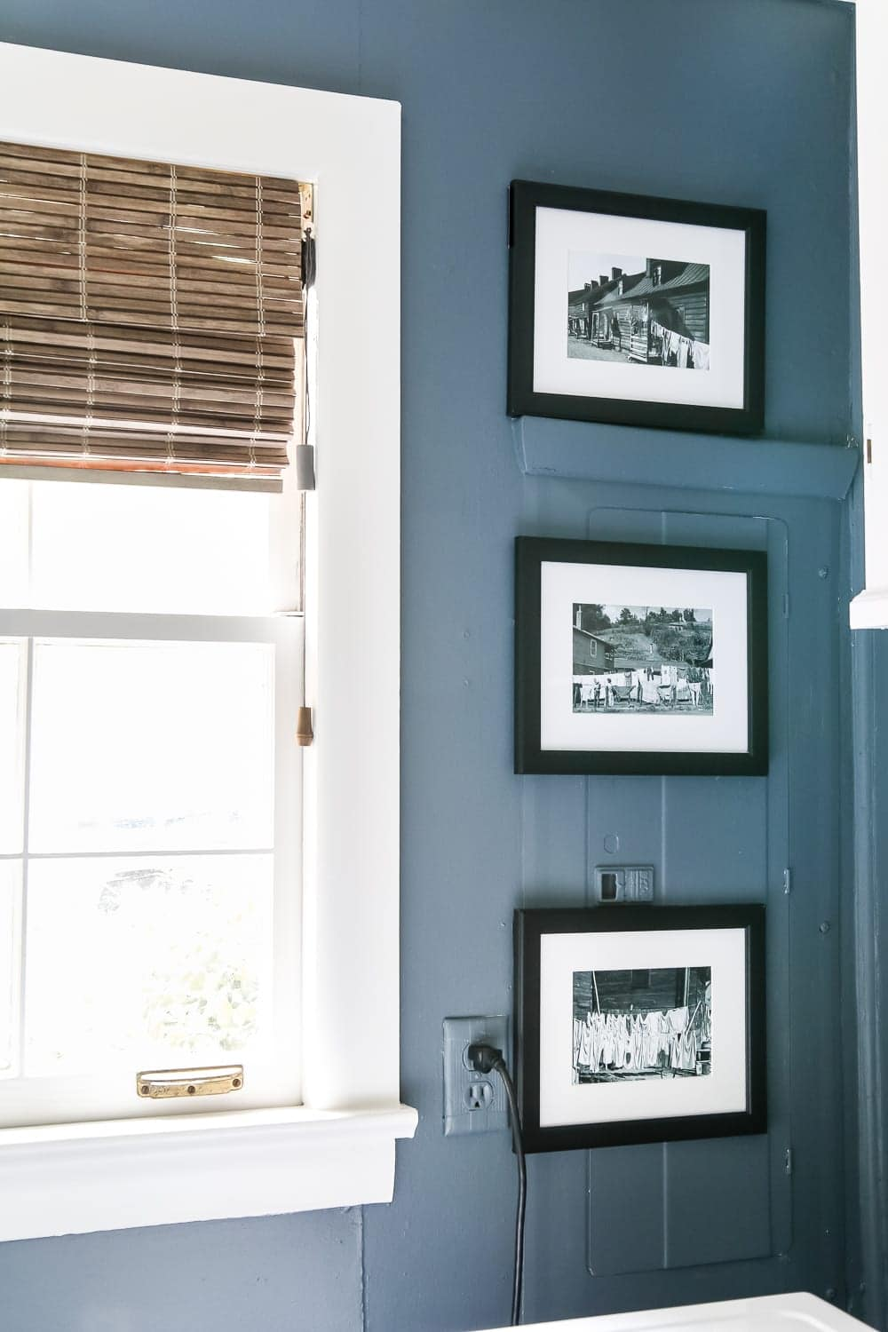 How to Disguise the Ugly Stuff in Your Home | Paint your breaker box the same color as the wall and place magnetic frames on top.