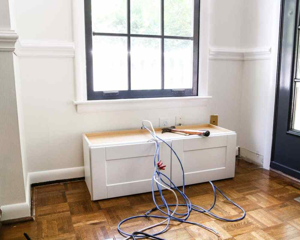 medium resolution of diy window seat from a kitchen cabinet blesserhouse com a simplified tutorial for