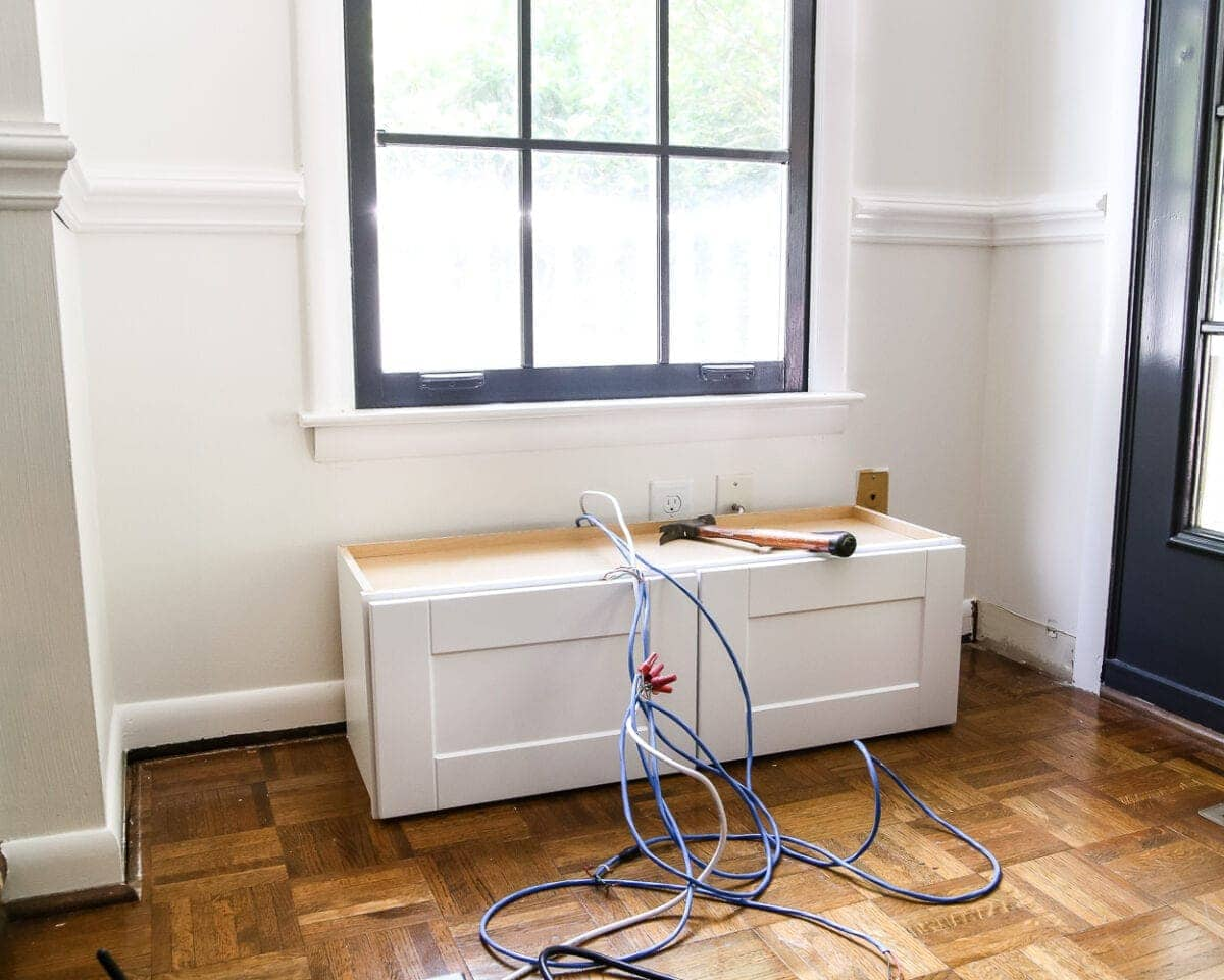 hight resolution of diy window seat from a kitchen cabinet blesserhouse com a simplified tutorial for