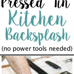 Tin Kitchen Backsplash Refinish Cabinets Diy Pressed Bless Er House Blesserhouse Com How To Makeover A