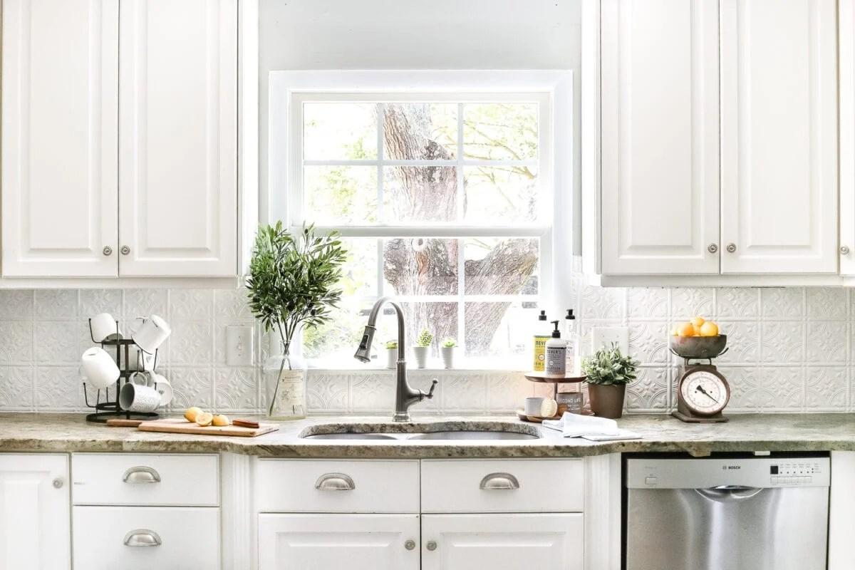 Image of: Diy Pressed Tin Kitchen Backsplash Bless Er House