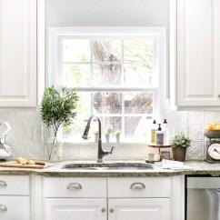 Inexpensive Backsplashes For Kitchens Kitchen Essentials By Calphalon Diy Pressed Tin Backsplash Bless Er House Blesserhouse Com How To Makeover A