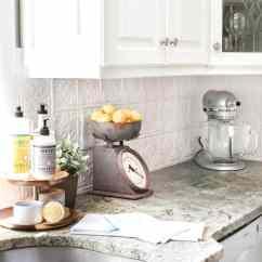 Backsplash In Kitchen Wood Tile Floor Diy Pressed Tin Bless Er House Blesserhouse Com How To Makeover A
