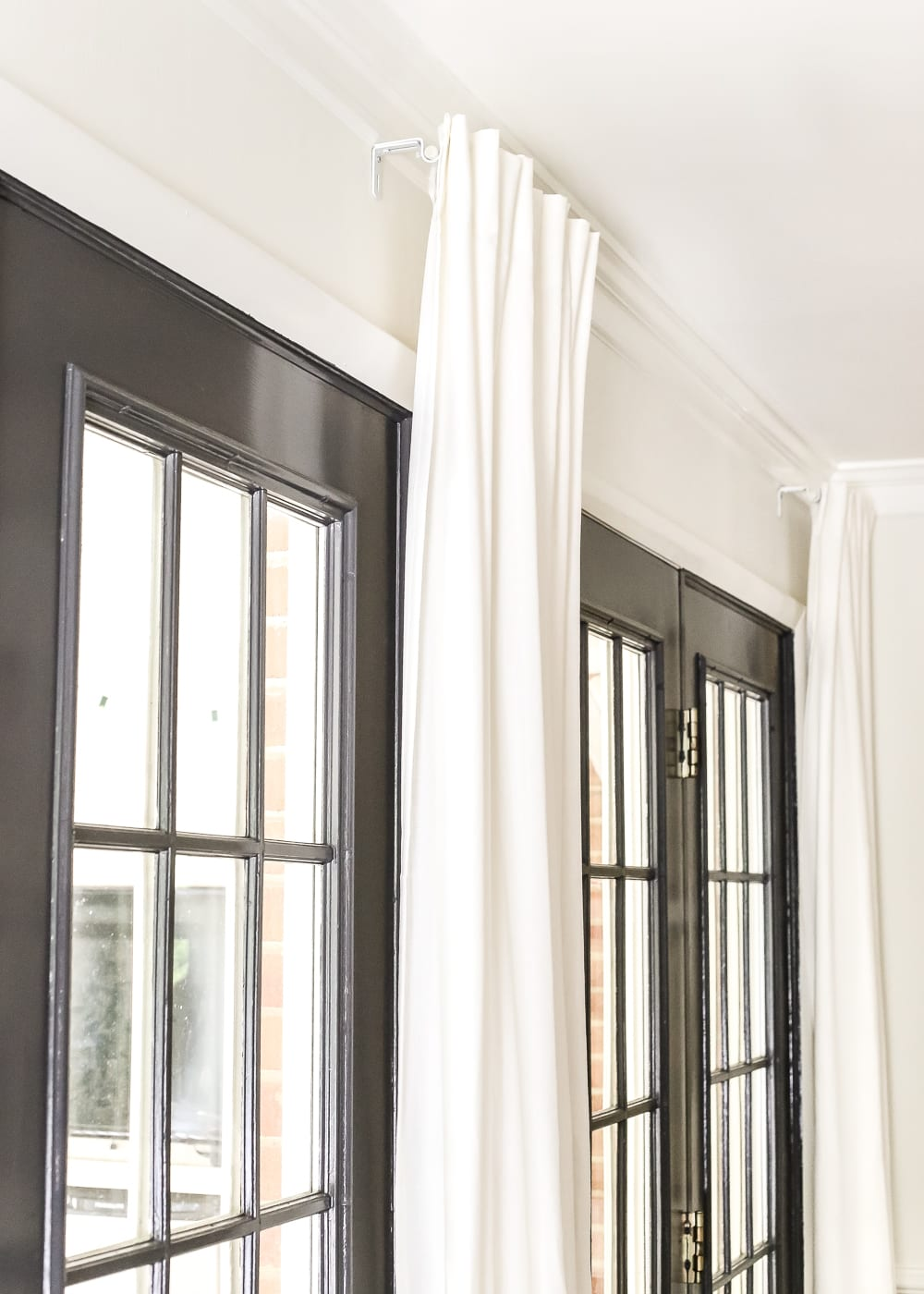 how to make living room curtains colonial style ideas fake a long curtain rod bless er house blesserhouse com simple inexpensive