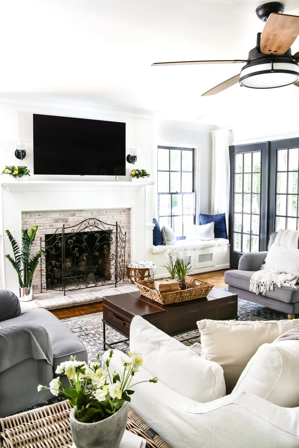 A house tour of a 1960 colonial 1 year after improvements with room makeover before and afters. #housetour #hometour #diyhome #homeimprovement #diy #diyblogger #budgetdecorating #beforeafter