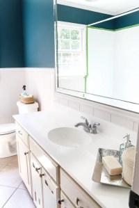 DIY Painted Bathroom Sink Countertop - Bless'er House