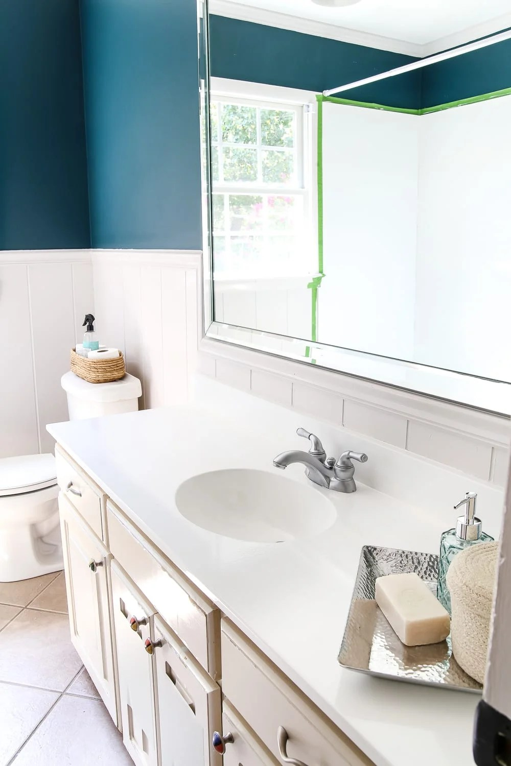 DIY Painted Bathroom Sink Countertop  Blesser House