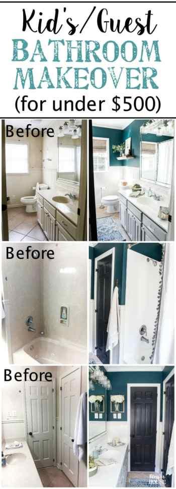 Kid S Guest Bathroom Makeover Reveal Bless Er House