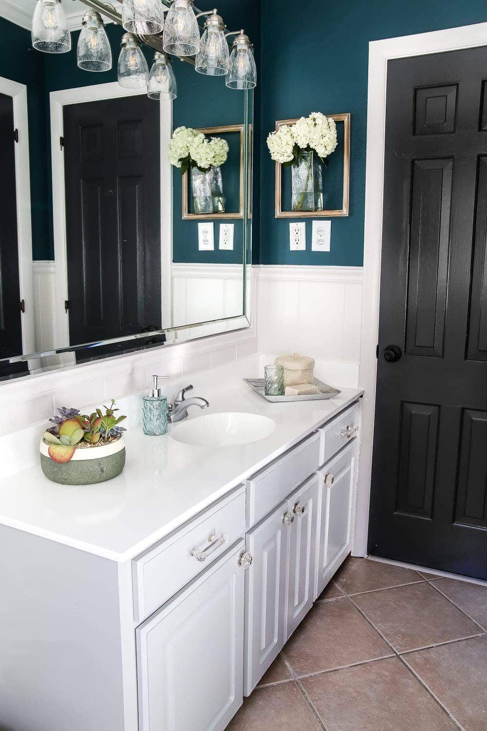 Painted Cabinet Bathroom Update  Blesser House