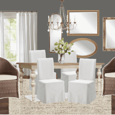 High Contrast Dining Room Makeover Plans