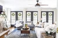 Seasonal Simplicity Christmas Living Room - Bless'er House