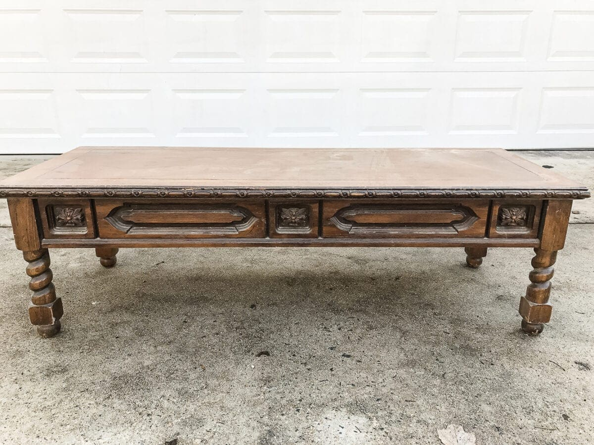 Picture of: Diy Ottoman Bench From A Repurposed Coffee Table Bless Er House