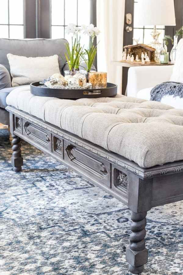Diy Ottoman Bench From A Repurposed Coffee Table Bless Er House