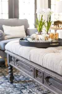 DIY Ottoman Bench from a Repurposed Coffee Table - Bless ...