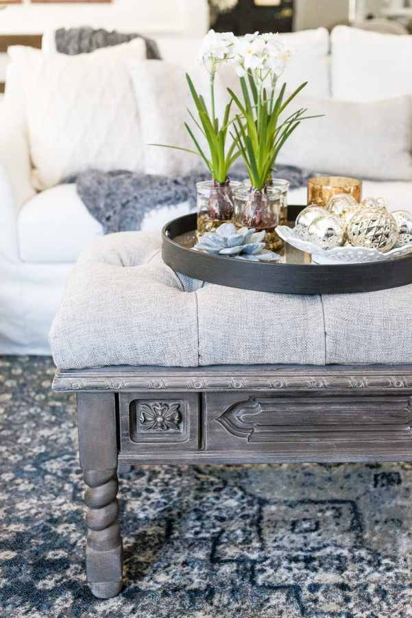 diy ottoman bench from a repurposed