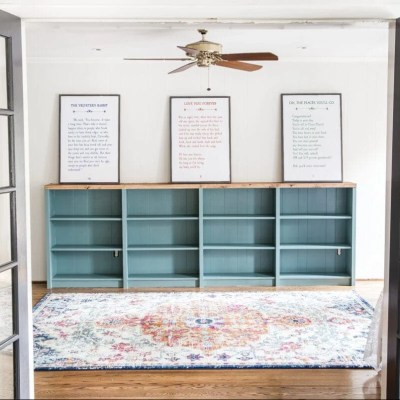 DIY Playroom Bookcase Built-Ins