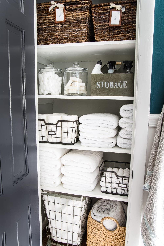 Linen Closet Organization Makeover Bless Er House