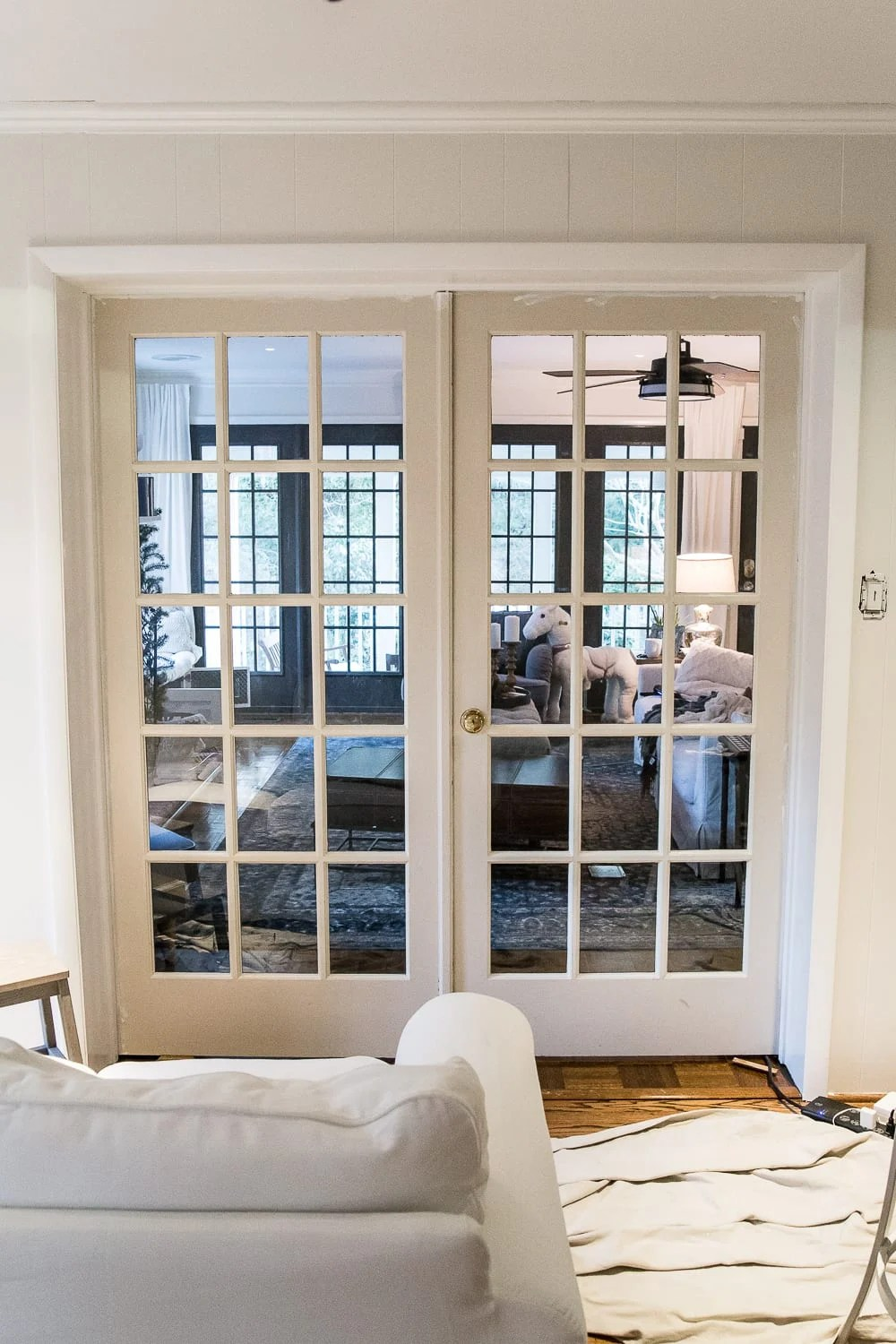 The Best Trick for Painting French Doors