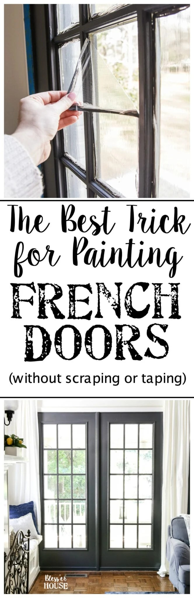 Top 10 Home and DIY Blog Posts of 2018 | The Best Trick for Painting French Doors and Windows