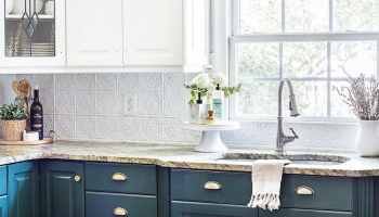 DIY Pressed Tin Kitchen Backsplash - Bless\'er House