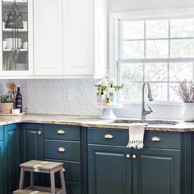 Green Kitchen Cabinet Update