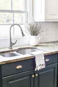 Green Kitchen Cabinet Update - Bless'er House