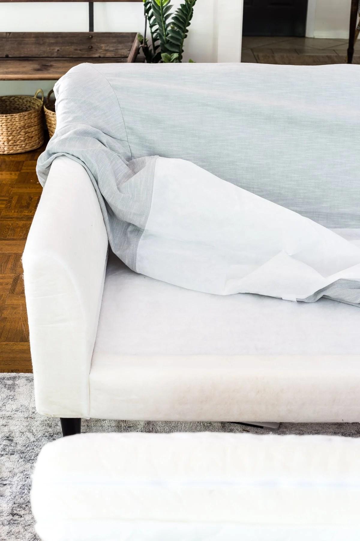 IKEA Farlov sofa and Bemz slipcover