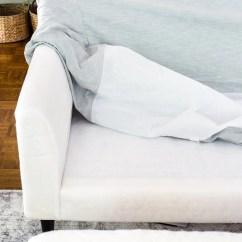 Gray Linen Sofa Slipcover Full Size Bed Mattress Sheets New Slipcovers For The Ikea Living Room Furniture - Bless ...