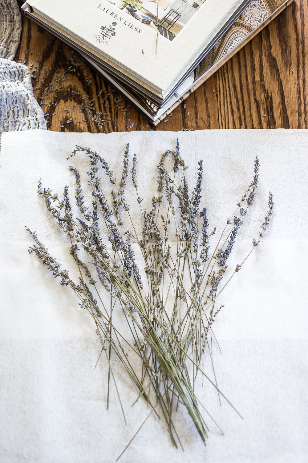 pressed French lavender