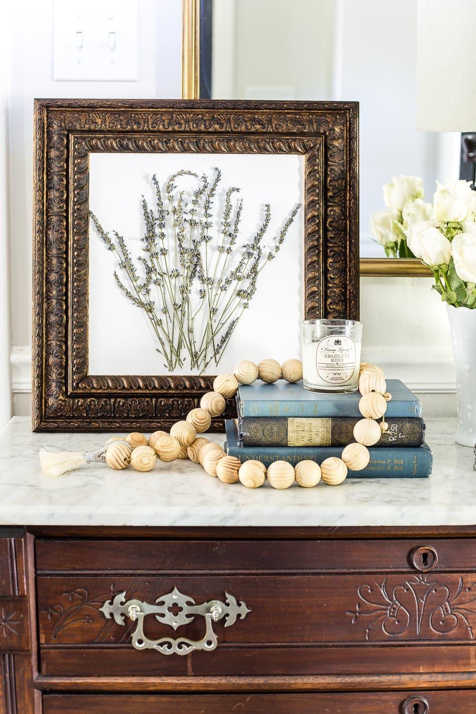 DIY pressed lavender art