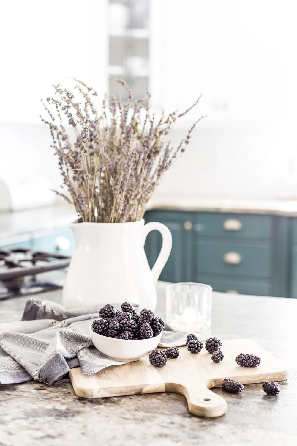 blackberries and French lavender