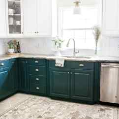 Budget Kitchen Cabinets Countertops Refresh Makeover Reveal Bless Er House Two Tone Deep Green