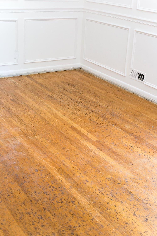 nursery makeover hardwood floor refinishing