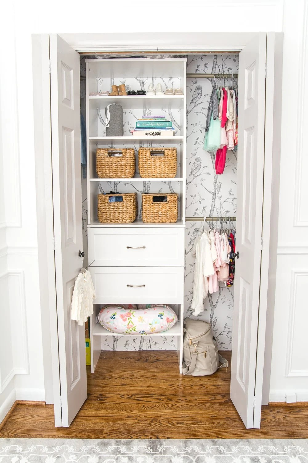 Nursery Closet Makeover and Free Printable Closet Dividers