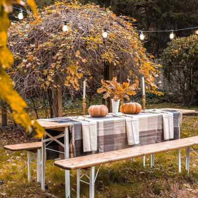 Beer Garden Table Makeover and Alfresco Thanksgiving