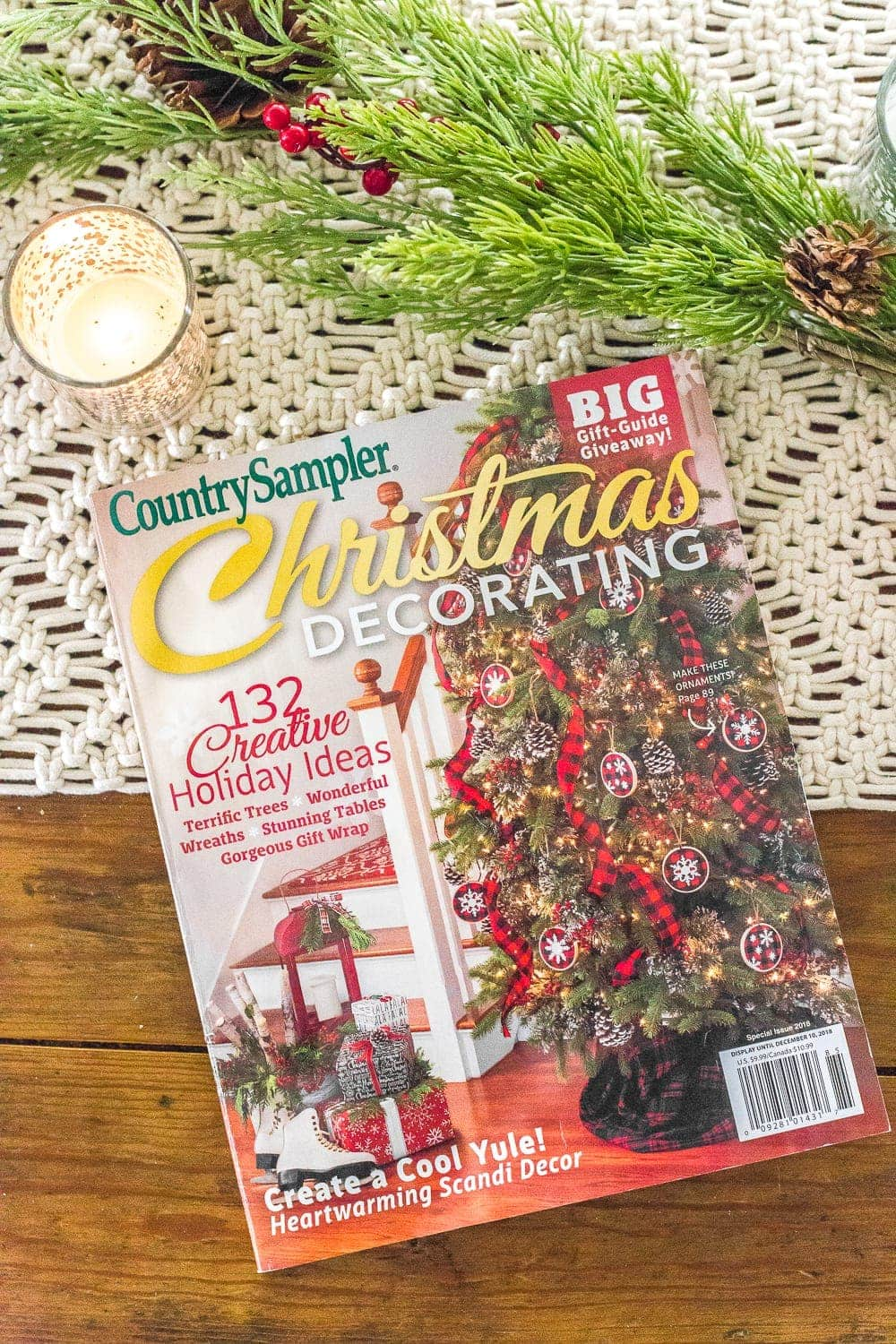 Christmas magazine feature Country Sampler