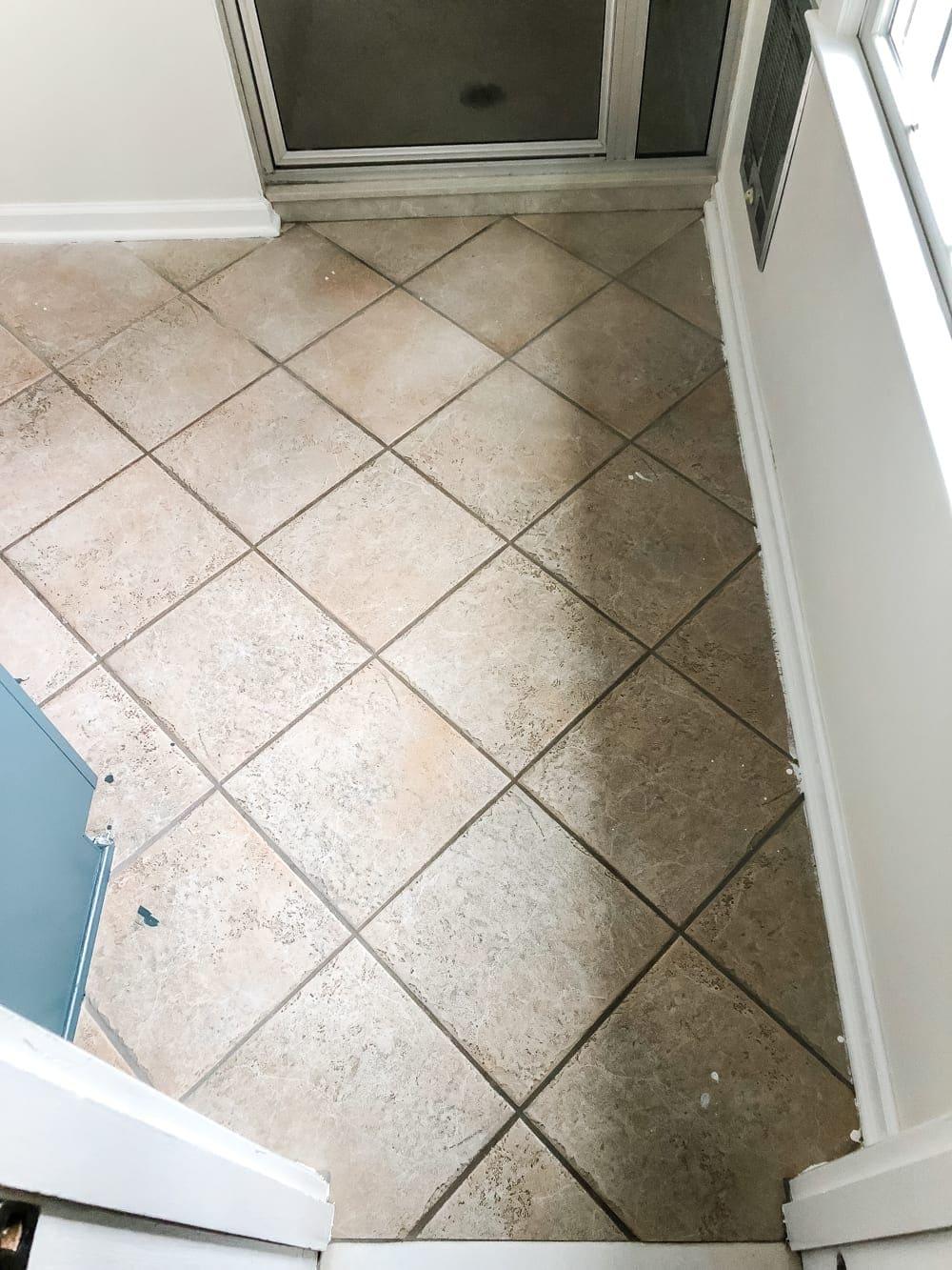 How to install sheet vinyl flooring over old tile