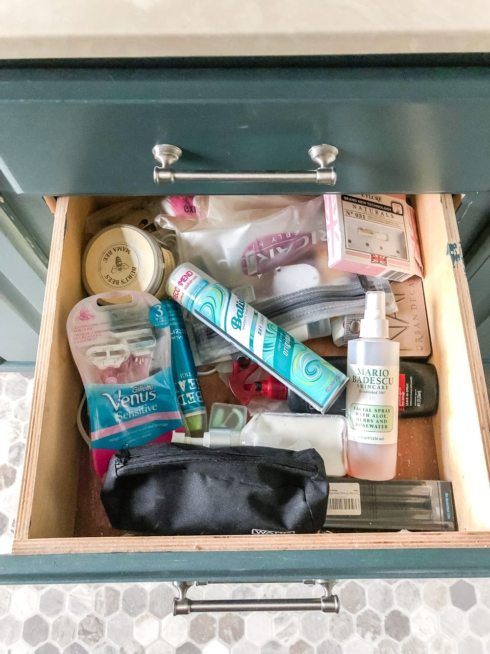 Budget Master Bathroom Refresh Reveal | bathroom drawer organization