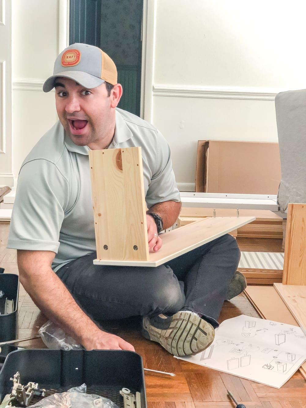 DIY IKEA Hemnes Pantry Cabinet | blesserhouse.com