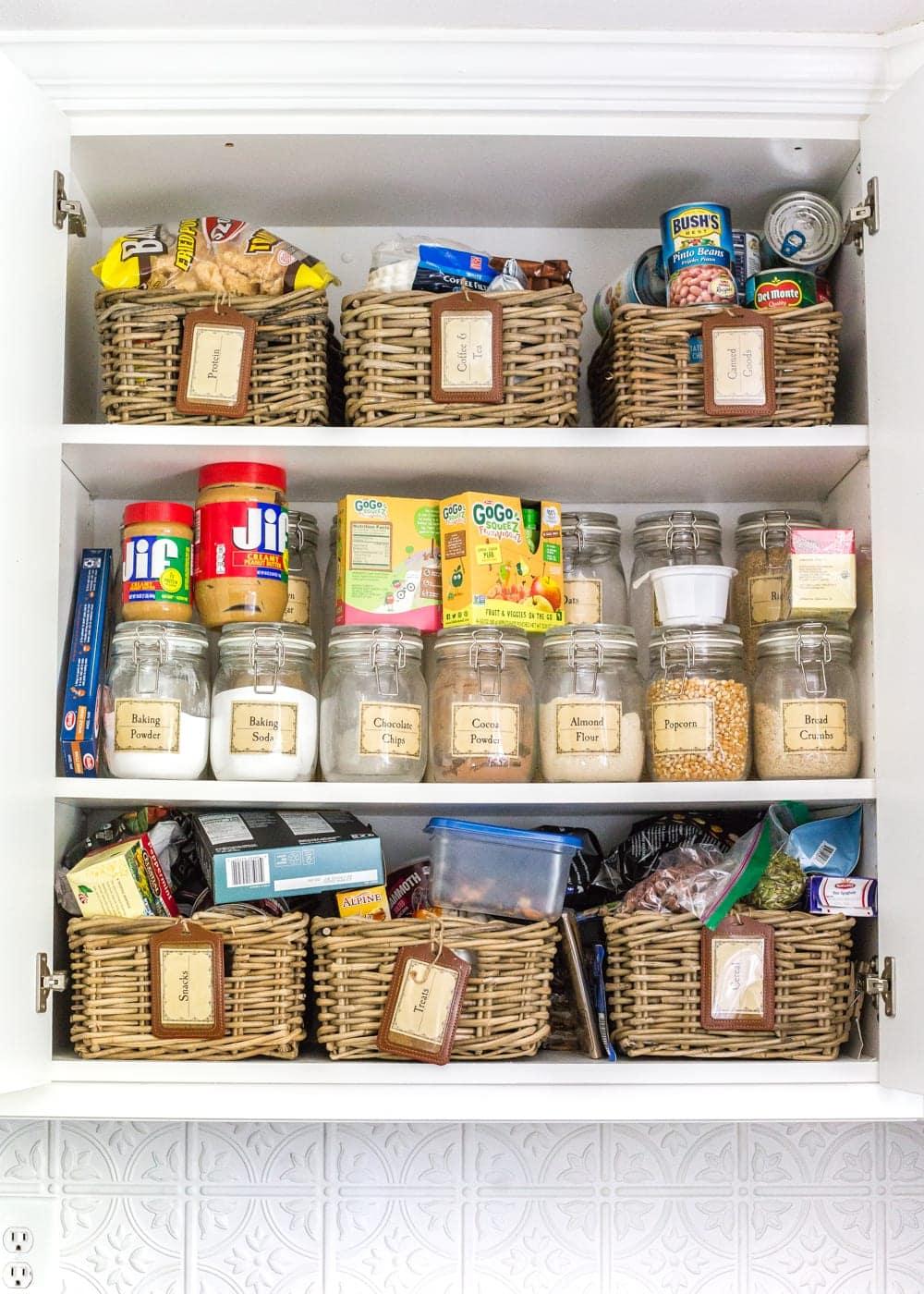 DIY IKEA Hemnes Pantry Cabinet | blesserhouse.com - pantry cabinet organization