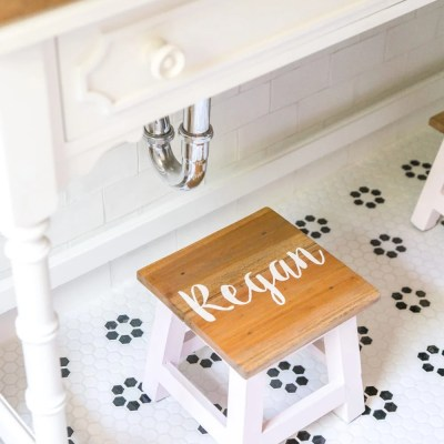 DIY Personalized Step Stools
