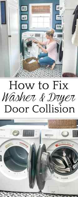 How to cross washer and dryer connections to prevent door collision + why we love our Samsung set to make us more efficient in tackling our laundry pile.